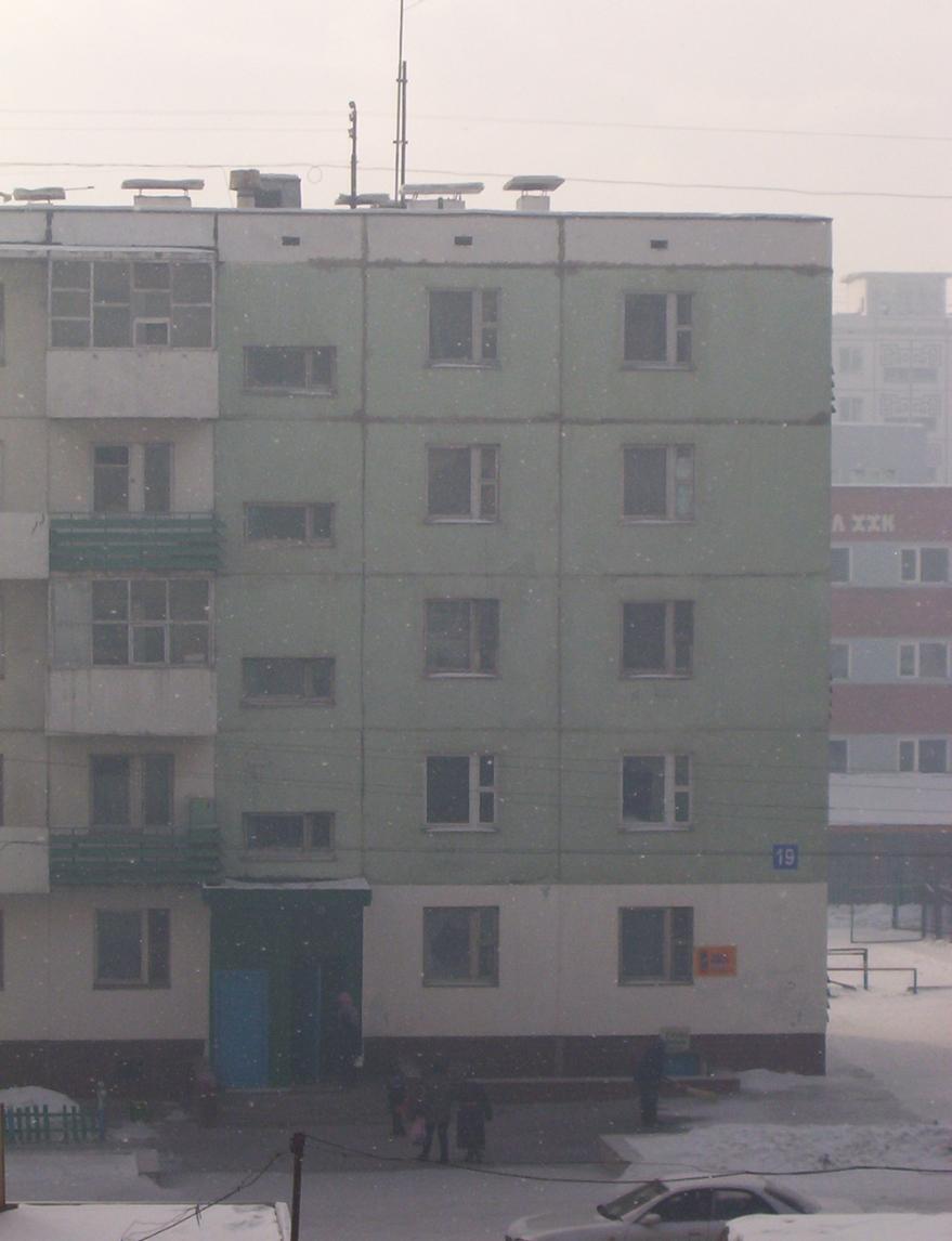 snowing apartment