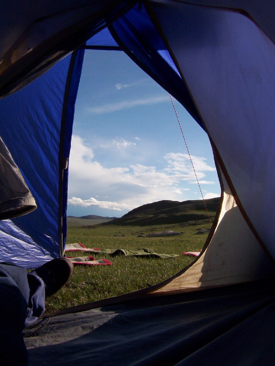 view out tent
